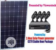 4 Channels CCTV Cam With 2.4kva Solar Generator Set + Installations | Solar Energy for sale in Lagos State, Ajah
