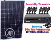 8 Channels CCTV Cam With 2.4kva Solar Generator Set + Installations | Solar Energy for sale in Lagos State, Ajah