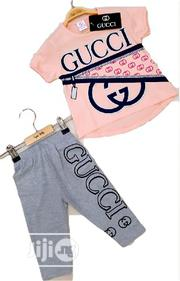 GUCCI Cool Top And Leggings – Peach | Children's Clothing for sale in Lagos State, Isolo