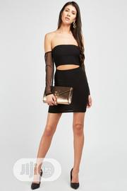 Cut Out Mesh Sleeve Dress Black | Clothing for sale in Imo State, Owerri