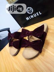 Wine Bekinstock With Bow Slip (1st Class 21st Century Materials) | Shoes for sale in Lagos State, Gbagada