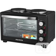 Polystar 25ltrs Toaster Oven, 2 Top Hot Plate With Grill PV-V25B | Kitchen Appliances for sale in Rivers State, Bonny