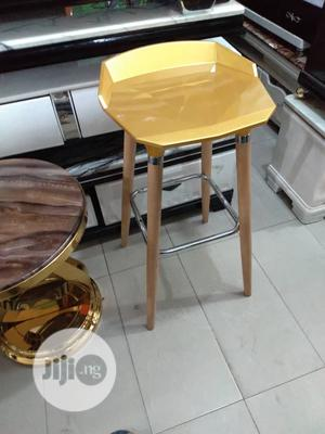 Bar Stool With Wooden Leg