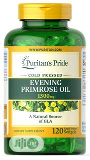 Evening Primrose Oil 1300 Mg With GLA, Cold Pressed - 120 Softgels | Vitamins & Supplements for sale in Lagos State, Lekki Phase 1