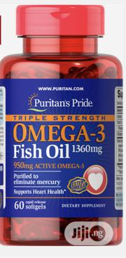 Triple Strength Omega 3 Fish Oil 1360 Mg (950 Mg Active Omega-3) | Vitamins & Supplements for sale in Lagos State, Lekki Phase 1