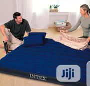 Intex 10inch Queen Classic Downy Airbed With Two Pillows And Hand Pump | Home Accessories for sale in Lagos State, Ojo