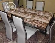 Marble Dining Table With (6) Chairs | Furniture for sale in Lagos State, Ikeja