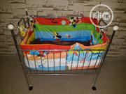Baby Crib And Bed With Mattress And Wheels | Children's Furniture for sale in Lagos State, Lekki Phase 1