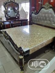 Exquisite Brown Foreign Royal Bed With Wardrobe and Dresser | Furniture for sale in Lagos State, Lagos Mainland