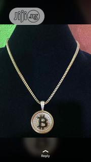 18carat Gold Bitcoin Pendant | Jewelry for sale in Lagos State, Yaba