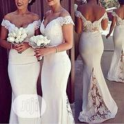 Lace Bridesmaid Sexy Cap Off Shoulder Sleeve Dresses | Clothing Accessories for sale in Lagos State, Ikeja