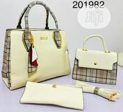 Genuine Leather Female White 3 Set Handbag | Bags for sale in Lagos State, Lagos Island