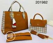 Classic Female 3 Set Genuine Leather Handbag | Bags for sale in Lagos State, Lagos Island