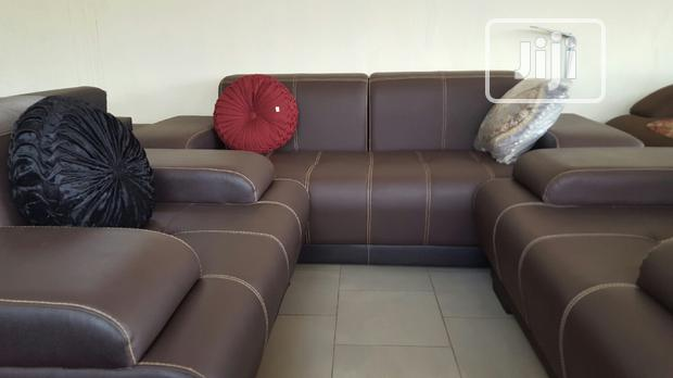 Seven Seater Leather Sofa