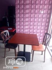 High Quality Wooden Resturant Table and Two Iron Chair. | Furniture for sale in Abuja (FCT) State, Maitama