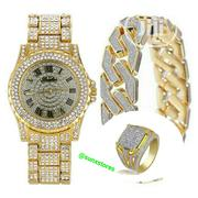 Men's Fashion Luxury Watch + Bracelet + Ring Combo | Watches for sale in Abuja (FCT) State, Dutse