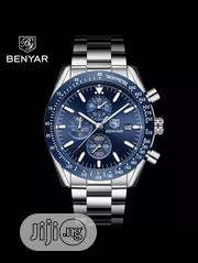 Benyar 2019 Latest Design Men's Casual Fashion Full Steel Quartz Watch | Watches for sale in Lagos State, Lagos Island