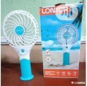 "Lontor 4"" Rechargeable Mini Standing/Hand Fan With Lithum Battery 