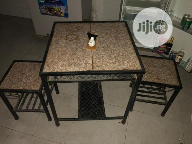 Granite Top Table Kitchen With 2 Stools