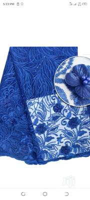 Flowery Lace Material- Blue | Clothing for sale in Lagos State, Surulere