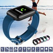 116 PLUS Color Screen Smart Bracelet Heart Rate Blood Pressure | Smart Watches & Trackers for sale in Lagos State, Ikeja