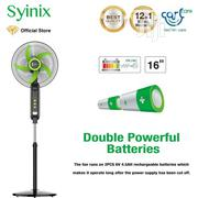 "Syinix 16"" Rechargeable Standing Fan FSS16R-504R 