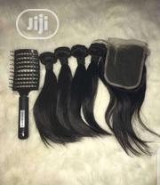 Brazilian Hair Wit Closure Nd A Free Brush | Tools & Accessories for sale in Lagos State, Yaba