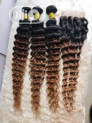 Blond Deep Curls Wit Matching Closure | Hair Beauty for sale in Lagos State, Yaba