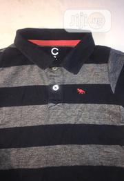 Stripe Dark Blue Polo T- Shirt for Baby Boy   Children's Clothing for sale in Lagos State, Alimosho