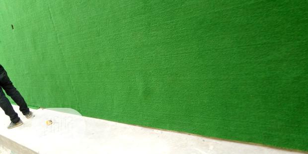Artificial Grass Wall Decor With Traditional Green Colour