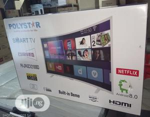 """New Polystar 43""""Inch Smart Curve TV Full Option + Android 8.0 + Wifi"""