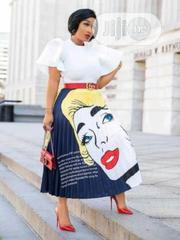 Graphic Pleated Skirt | Clothing for sale in Lagos State, Lagos Island