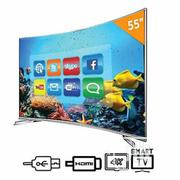 Hisense 55-inch UHD Smart Curved LED TV 5600CW + 12 Months Warranty | TV & DVD Equipment for sale in Akwa Ibom State, Uyo