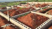 A Plot of Land Fenced With Foundation at Simawa/Redeemed Camp | Land & Plots For Sale for sale in Lagos State, Kosofe