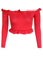 Long Sleeves Crop Top With Frill | Clothing for sale in Lagos State, Lagos Mainland