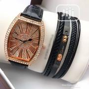 Iced Head Frank Muller Wristwatch With Genuine Leather A | Watches for sale in Lagos State, Lagos Island