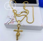 Exclusive Cross Pendant With Raw Pure Stainless Steel Chain | Jewelry for sale in Lagos State, Lagos Island
