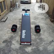 Sit Up Bench And Pair Of 7.5kg Plastic Dumbbell | Sports Equipment for sale in Lagos State, Surulere