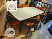 Cream Marble Dining Table By 6 Chairs | Furniture for sale in Lagos State, Ikeja