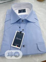 New Collar Cotten Men's Blue Shirt   Clothing for sale in Lagos State, Amuwo-Odofin
