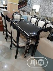 Black Wooden Dining Table By 6 Chairs | Furniture for sale in Lagos State, Ajah