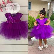 Turkey Girls Cute Ball Gown Dress Purple 3-6yrs | Children's Clothing for sale in Lagos State, Isolo