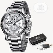LIGE Chronograph Men's Luxury Full Steel Quartz Waterproof Wrist Watch | Watches for sale in Lagos State, Lagos Mainland
