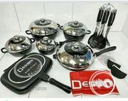 Dessini 23pcs Pots and Double Grill Pan | Kitchen & Dining for sale in Lagos State, Lagos Island
