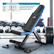 Adjustable Bench With Resistance Ropes Dumbbell Racks   Sports Equipment for sale in Lagos State, Lekki Phase 1