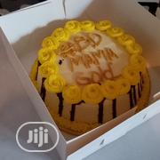 Sponge Cake With Chocolate Drop Decoration, | Party, Catering & Event Services for sale in Oyo State, Egbeda