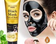 Dr Davey Peel-Off Black Mask - 6 in 1 Vitamin E Whitening | Skin Care for sale in Lagos State, Amuwo-Odofin