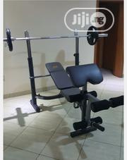 Commercial Bench Press With 50kg Barbell   Sports Equipment for sale in Lagos State, Gbagada