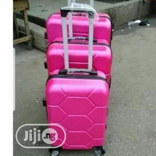 Bomber Trolley Luggage Travel Box 3set - Pink