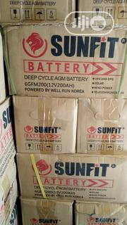 Sunfit Deep Cycle AGM Battery 200ah-12v   Solar Energy for sale in Lagos State, Ojo